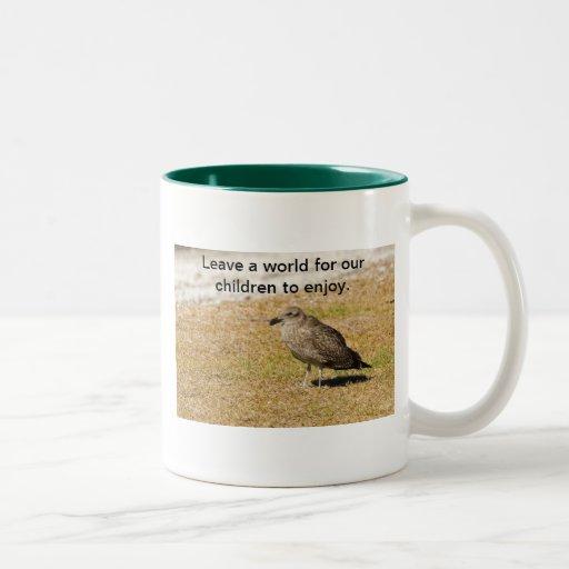 Deje un mundo para nuestra taza de los niños