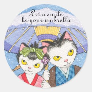 Deje una sonrisa ser su pegatina del paraguas