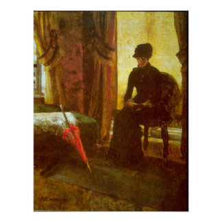 Dejected Lady by James Ensor Poster