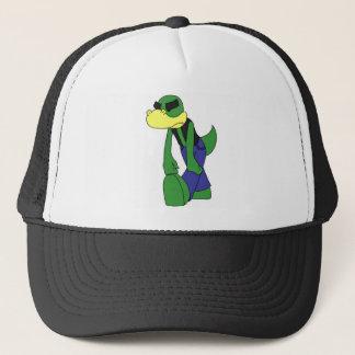 Dejected Lizardface - Flat colored Trucker Hat