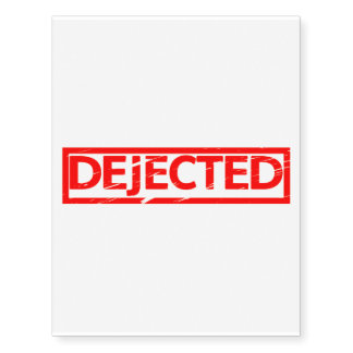 Dejected Stamp Temporary Tattoos