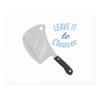 Déjelo a la cuchilla postal