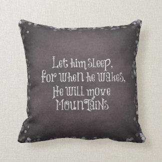 Déjelo dormir, él moverá cita del bebé de las cojín