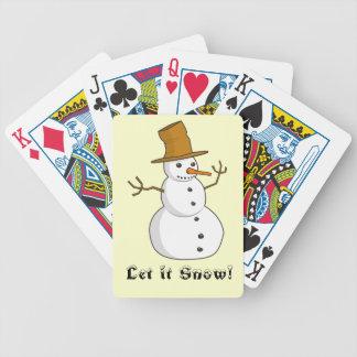 Déjelo nevar los naipes de la bicicleta baraja de cartas