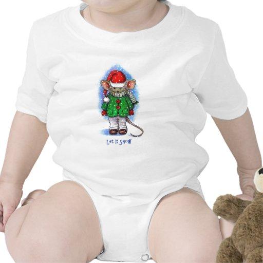 """""""Déjelo nevar"""" pequeño ratón liado para el Trajes De Bebé"""