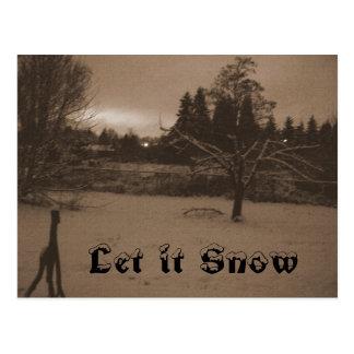 """""""Déjelo nevar"""" postal de la sepia"""