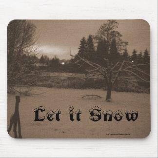 """""""Déjelo nevar"""" sepia Mousepad"""