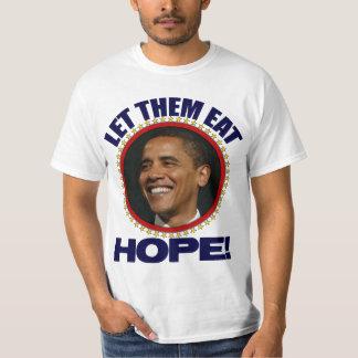 ¡Déjelos comer esperanza! - Obama anti Remeras
