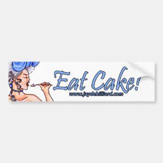 """Déjelos comer la torta"" Bumpersticker Etiqueta De Parachoque"