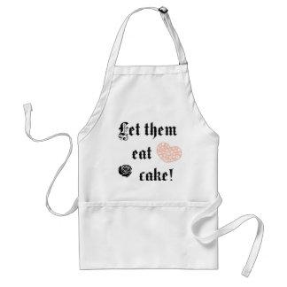 Déjelos comer la torta delantales