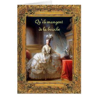 Déjelos comer la torta Marie (francés) Antonieta Tarjeta De Felicitación