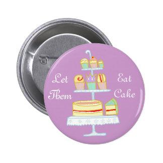 Déjelos comer la torta pin redondo 5 cm