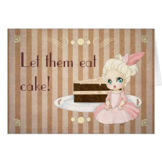 ¡Déjelos comer la torta Tarjetas