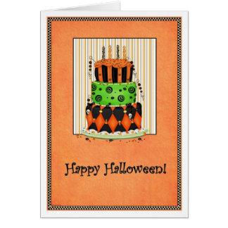 ¡Déjelos comer la torta! Tarjeta de Halloween