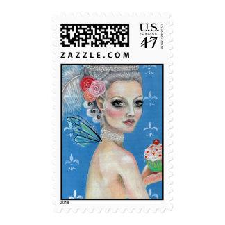 Déjelos comer la torta timbres postales