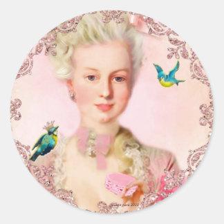 Déjelos comer los sellos de Macarons de Paulette Pegatina Redonda