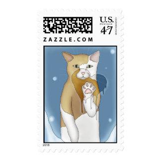 Déjeme en su corazón sellos postales