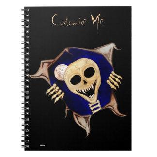 Déjeme hacia fuera (el esqueleto de escape) cuaderno