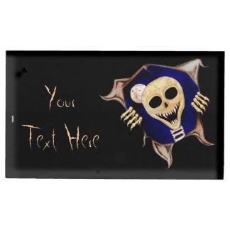 Déjeme hacia fuera el esqueleto de escape soportes de tarjeta de mesa