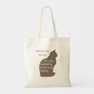 Déjeme me solo están hablando solamente a mi gato  bolsa