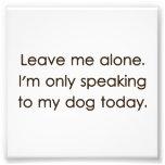 Déjeme me solo están hablando solamente a mi perro foto