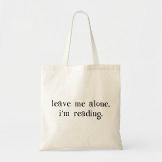 Déjeme me solo están leyendo bolsa lienzo