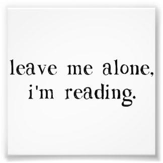 Déjeme me solo están leyendo fotografía