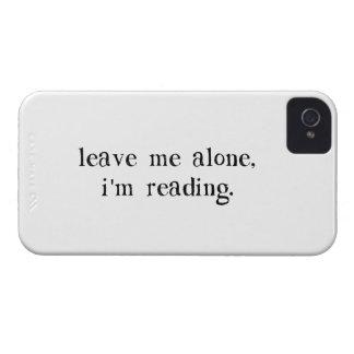 Déjeme me solo están leyendo iPhone 4 Case-Mate carcasa