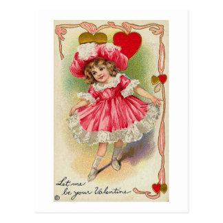 Déjeme ser su tarjeta del día de San Valentín Tarjetas Postales