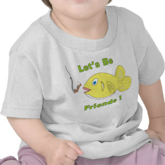 Déjenos _Be_friends_Cartoon_Fish_and_Worm Camiseta