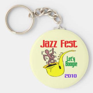 Déjenos boogie en el Fest del jazz Llavero Redondo Tipo Pin