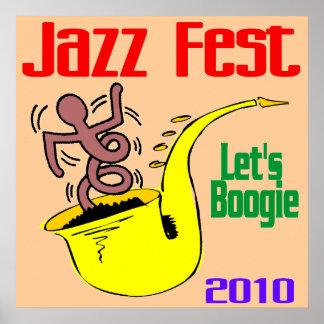 Déjenos boogie en el Fest del jazz Póster