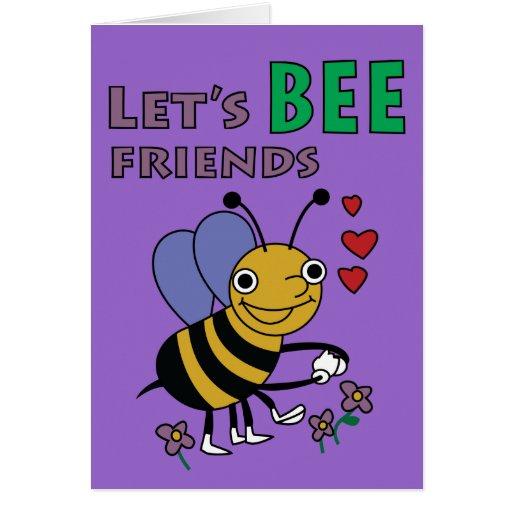 Déjenos tarjeta de los amigos de la abeja
