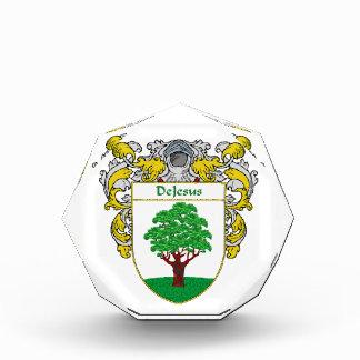 DeJesus Coat of Arms Family Crest Acrylic Award
