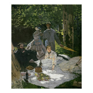 Dejeuner sur l'Herbe, Chailly, 1865 Poster