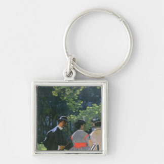 Dejeuner sur L'Herbe, Chailly, 1865 Silver-Colored Square Keychain