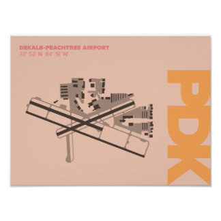 DeKalb-Peachtree Airport (PDK) Diagram Poster