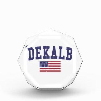 DeKalb US Flag Acrylic Award
