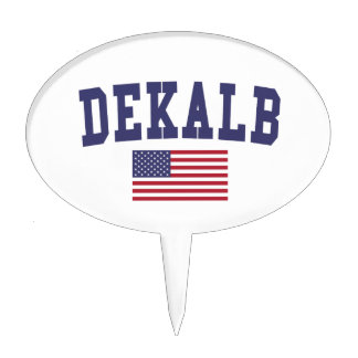 DeKalb US Flag Cake Topper
