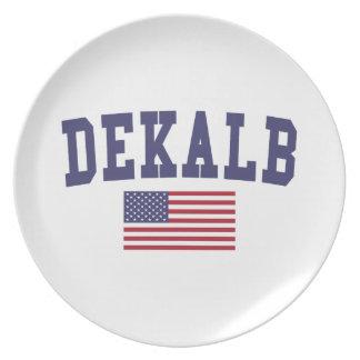DeKalb US Flag Dinner Plate