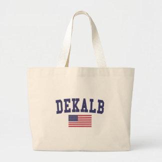 DeKalb US Flag Large Tote Bag