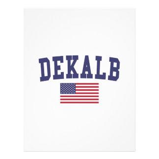 DeKalb US Flag Letterhead