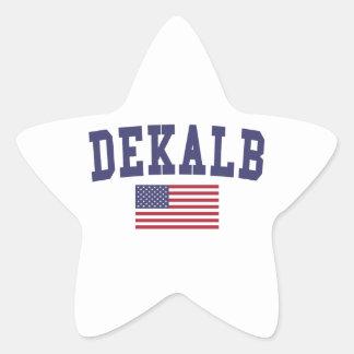 DeKalb US Flag Star Sticker