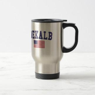 DeKalb US Flag Travel Mug