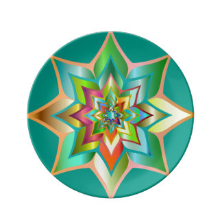 Deko plate star Mandala