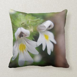 Dekokissen dos flores weiss-gelbe amarillo blanco cojin