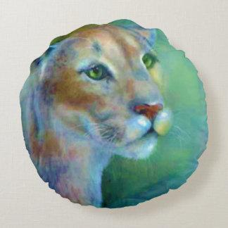 Dekokissen of round-painted Puma Round Pillow