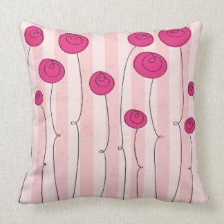 Dekokissen with representative flowers throw pillow