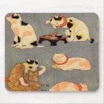 ) del 中 del (del たとえ尽の内, gatos japoneses del 国芳 (2 alfombrillas de raton
