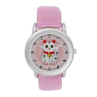 ) del 白黒 del (del 招き猫, Manekineko B&W (gato Reloj